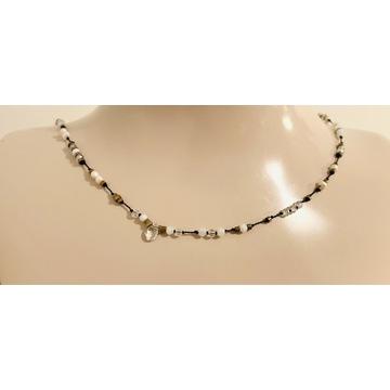 Bastet naszyjnik CHOKER opale perły kwarc