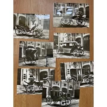 Pocztówki - samochody - czarno białe