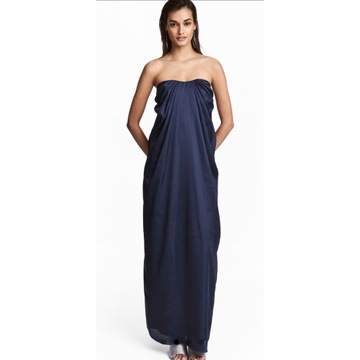 Sukienka na wesele H&M satynowa Maxi S/M Asos