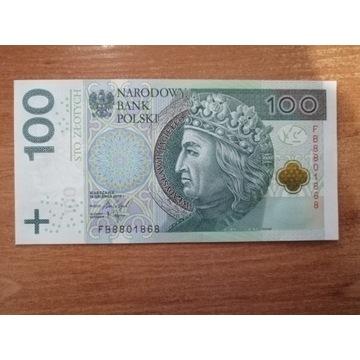 Banknot 100 zł seria FB