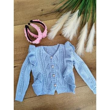 Sweterek błękitny  wiek 4-14
