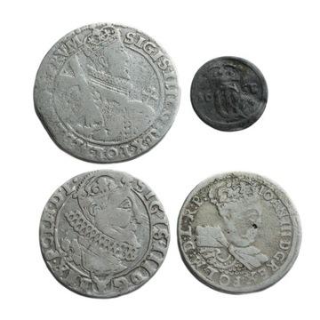 Zestaw monet srebrnych 4 szt