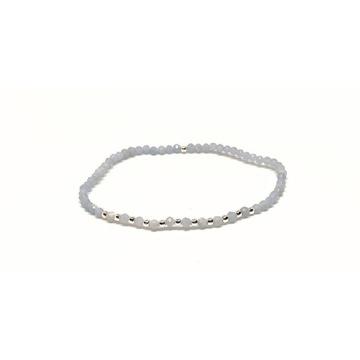 Bransoletka kamienie naturalne angelit srebro 925