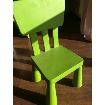 Krzesełko dziecięce zielone - IKEA 2 szt.