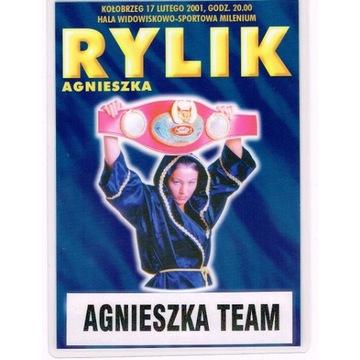 Agnieszka RYLIK - karta walk + identyfikator 2001r