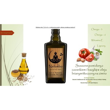 Olej lniany & pomidor, czosnek i bazylia PROMOCJA!