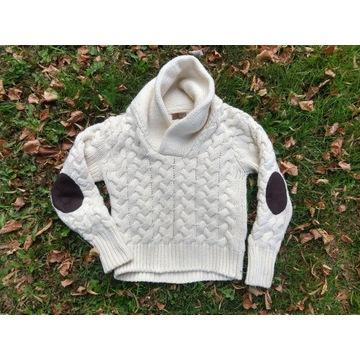 Stylowy sweter pullover stójka ZARA M ciepły gruby