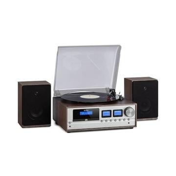 Oxford Zestaw stereo w stylu retro DAB+/FM