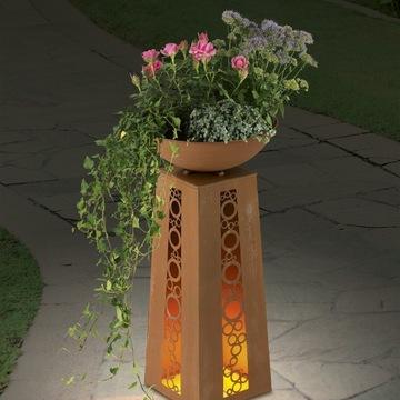 EASYmaxx LED kolumna z donicą podświetlana