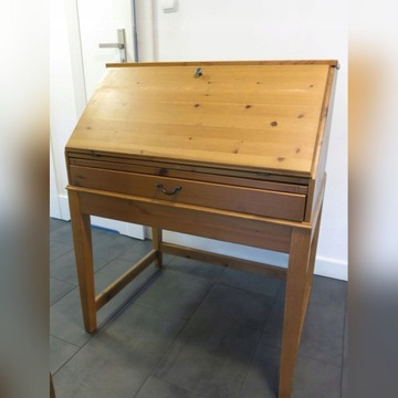 Biurko sekretarzyk sosnowy Ikea