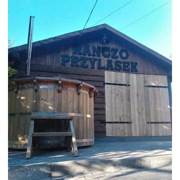 domki drewniane, balia ruska, sauna, wiata,quady,