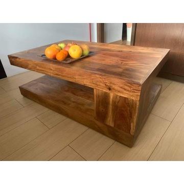 Stół / Ława Z Litego Drewna Sheesham 110 x 70 cm
