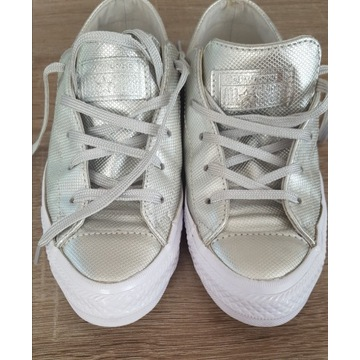 CONVERSE ALL STAR 37,5 srebne wk.23.5cm Super Stan