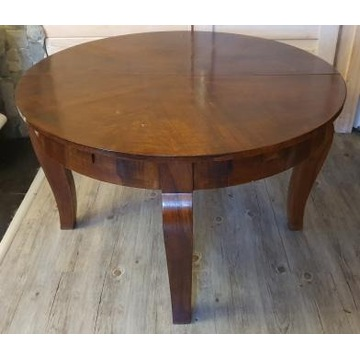Rozkładany stół okrągły 112 cm dł.160 cm ART DECO