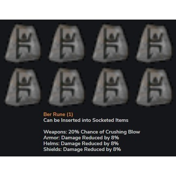 10 x Runa JAH / BER - Diablo 2 LOD NOWY LADDER