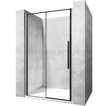 [NOWE] Rea Solar Black drzwi prysznicowe 120 cm