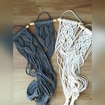 Kwietnik makrama ze sznurka wiszący