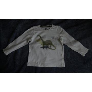 Bluzka koszulka Lupilu, wzór dinozaury, r. 110-116