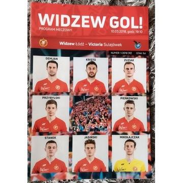 Program meczowy Widzew Łódź - Victoria Sulejówek