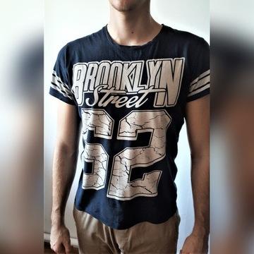 Granatowa koszulka, rozmiar L