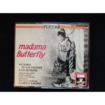 PUCCINI Madama Butterfly Santini Bjorling EMI