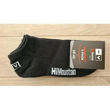 HiMountain komfort 3x skarpety stopki czarne 39-42