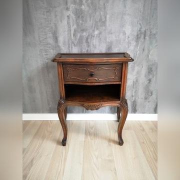 Stylowy stolik Dania drewniany komoda z szufladą
