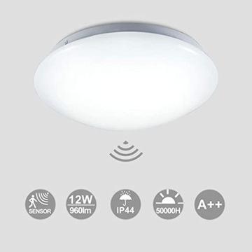 Lampa plafon LED z czujnikiem ruchu HENGDA biała