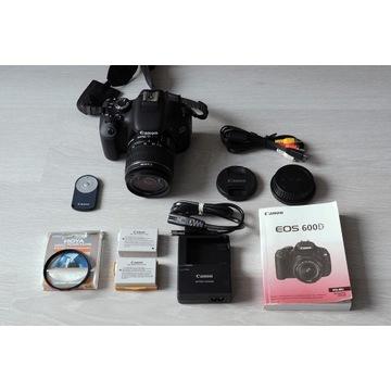 Canon EOS 600D + obiektyw 18-55 IS II + dodatki