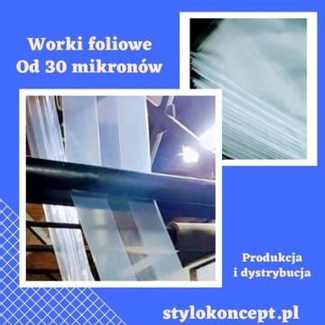 Worki foliowe od 30 mikronów