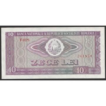 RUMUNIA 10 LEI 1966 - stan bankowy UNC