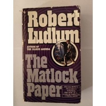 The Matlock Paper Robert Ludlum kryminał sensacja