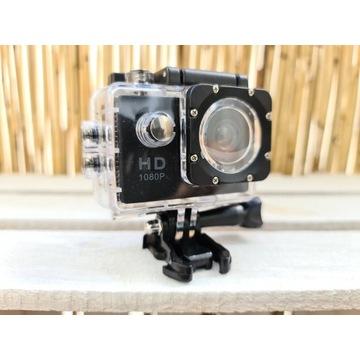 Kamera sportowa FullHD wodoodporna IP68 ZESTAW!
