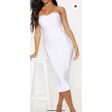 PrettyLittleThing sukienka midi bandazowa roz32/34