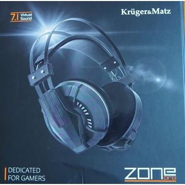 Słuchawki z mikrofonem Kruger & Matz Zone Pro