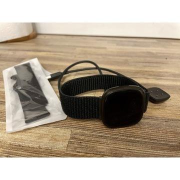 Fitbit VERSA 3 czarny + nowy pasek nylonowy