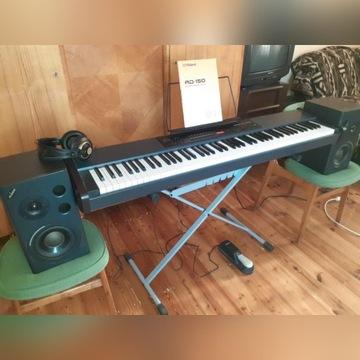 Pianino Cyfrowe Roland RD-150, glosniki, futeral