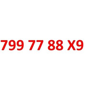 799 77 88 X9 starter play złoty numer 3cyfry 7 8 9