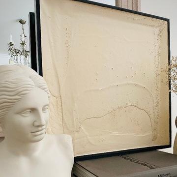 płaskorzeźba relief obraz 60x60cm abstrakcja