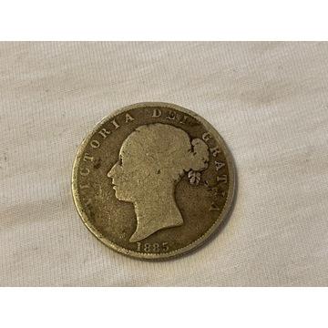 Victoria 1885 Anglia srebrna monet