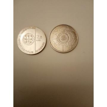 Portugalia okolicznościowe 2 x 2,5 euro