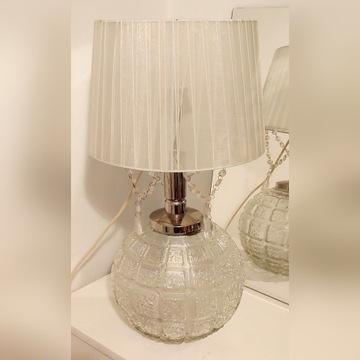 Piękna lampa stołowa szklana Unikat!