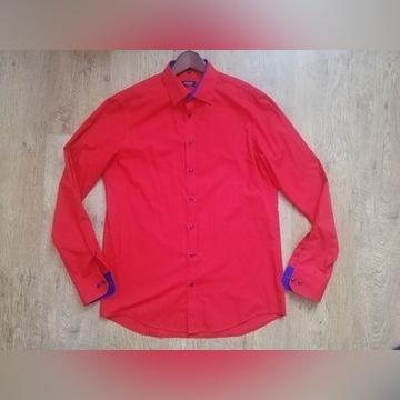 Czerwona męska koszula