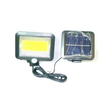 Lampa Solarna 100LED COB czujnik ruchu i zmierzchu