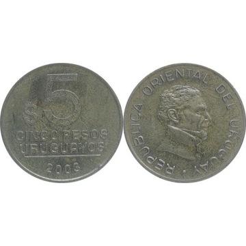 Urugwaj 5 pesos uruguayos 2003, KM#120.1
