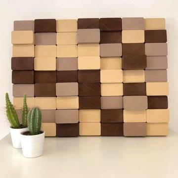 Mozaika drewniana - obraz z drewna