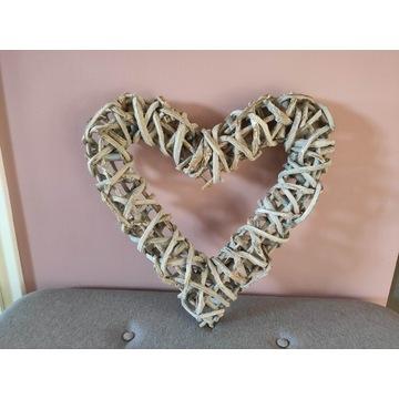 Serce wiklinowe (50 x 50 cm) - ozdoba