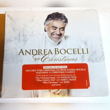 ANDREA BOCELLI - MY CHRISTMAS CD DVD Deluxe FOLIA