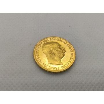 Austria 20 koron 1915 Franciszek Józef p900 6,78g