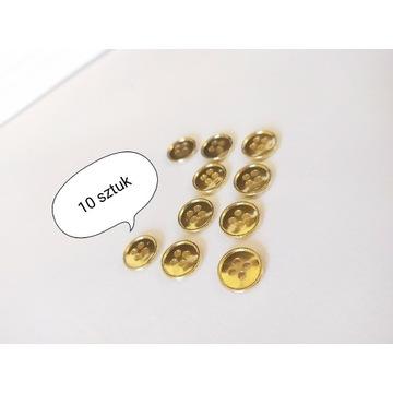 Nowe zestaw 10 sztuk guzików złotych 8mm